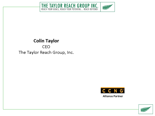 Introducing CCNG partner - The Taylor Reach Group