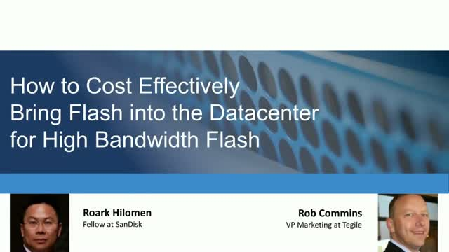 Bringing Flash into the Datacenter for Bandwidth-Intensive Applications