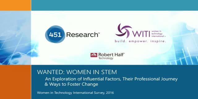Wanted: Women in Science, Technology, Engineering & Math