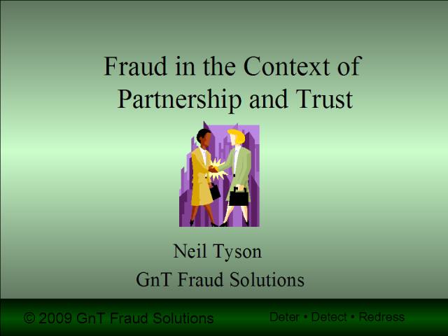 Managing Fraud Risks in Term Partnering Contracts
