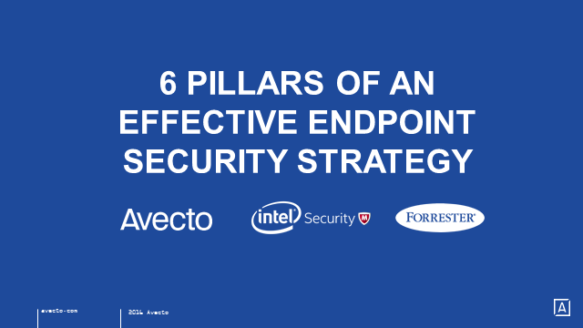 6 pillars of an Effective Endpoint Security Strategy