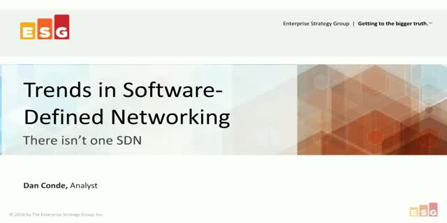 Trends in Software-Defined Networking