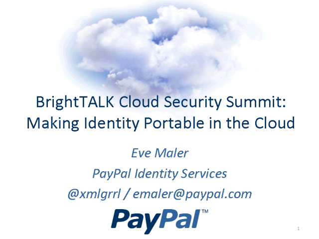 Making Identity Portable in the Cloud