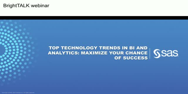 Top Technology Trends in BI and Analytics: Maximize Your Chance of Success