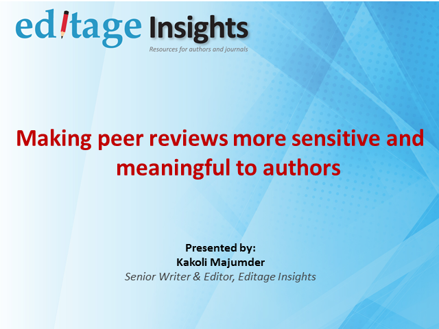 Making peer reviews more sensitive and meaningful to authors