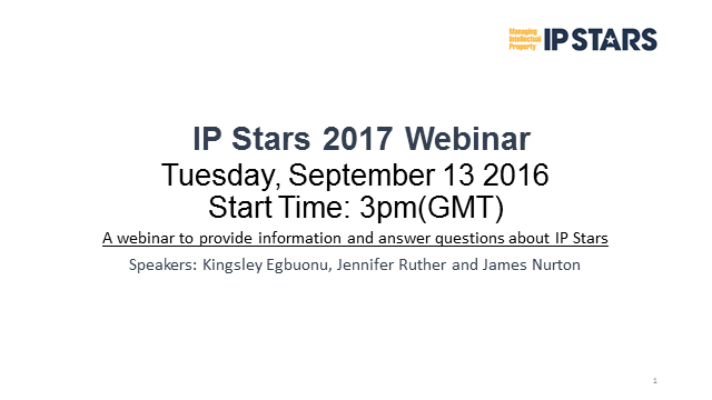 IP Stars 2017 research - your questions answered