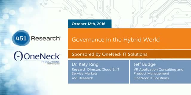 Governance in the Hybrid World