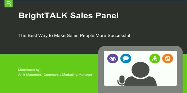 Sales Enablement Panel: The Best Way to Make Sales People More Successful
