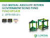 Old Mutual Absolute Return Government Bond Fund update - September 2016