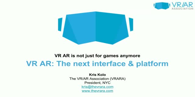 VR / AR: The Next Computing Interface and Platform