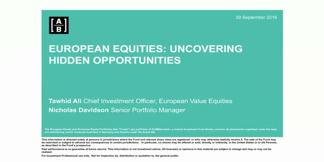 European Equities: Uncovering Hidden Opportunities