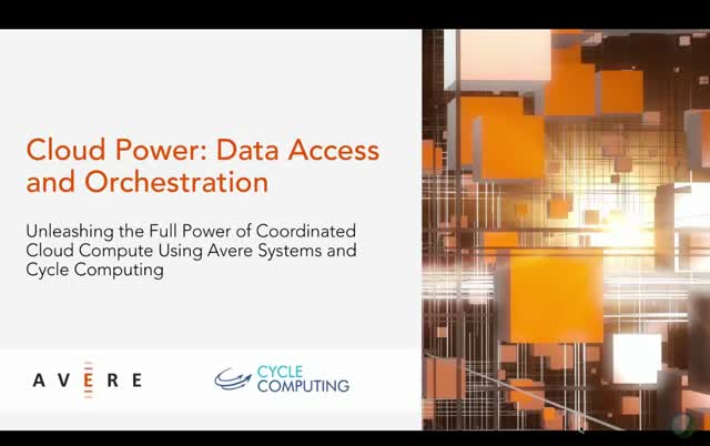 Cloud Power: Data Acces and Orchestration