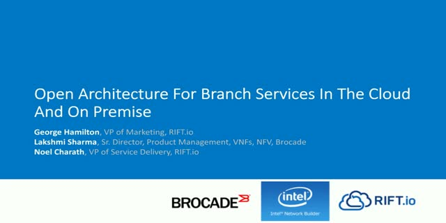 Open Architecture for Branch Services in the Cloud and on Premises