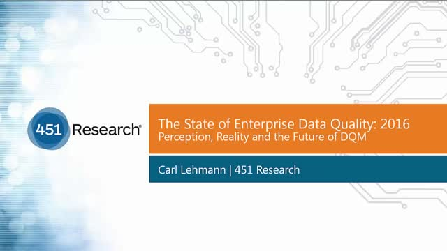 The State of Enterprise Data Quality 2016