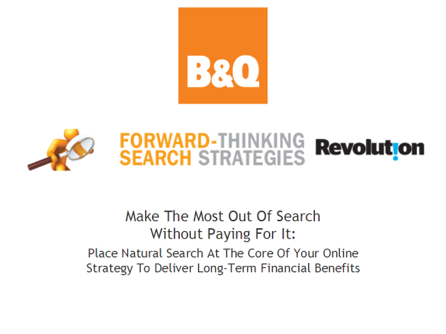 Advance Search Strategies - making the most of natural search