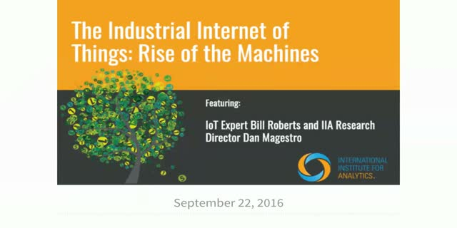 The Industrial Internet of Things: Rise of the Machines