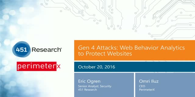 Gen 4 Attacks: Web Behavior Analytics to Protect Websites
