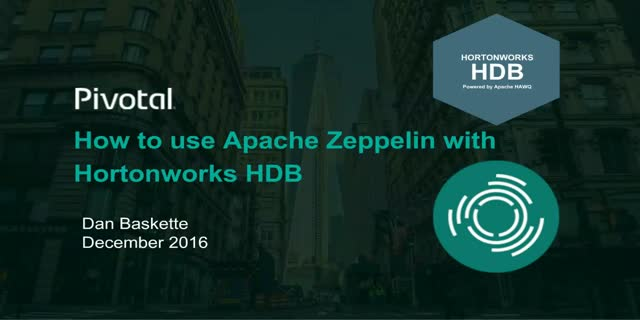 How to use Apache Zeppelin with Hortonworks HDB