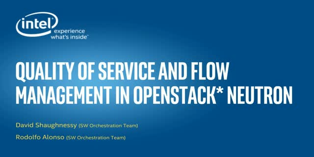 Quality of Service and flow management in OpenStack Neutron