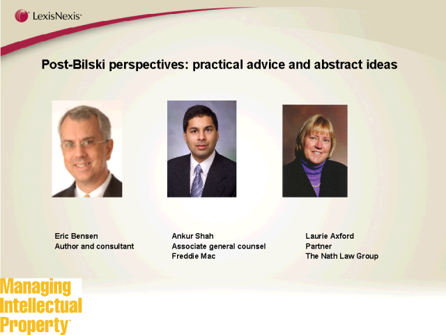 Post-Bilski perspectives: practical advice and abstract ideas