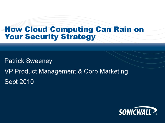How Cloud Computing Can Rain on Your Security Strategy