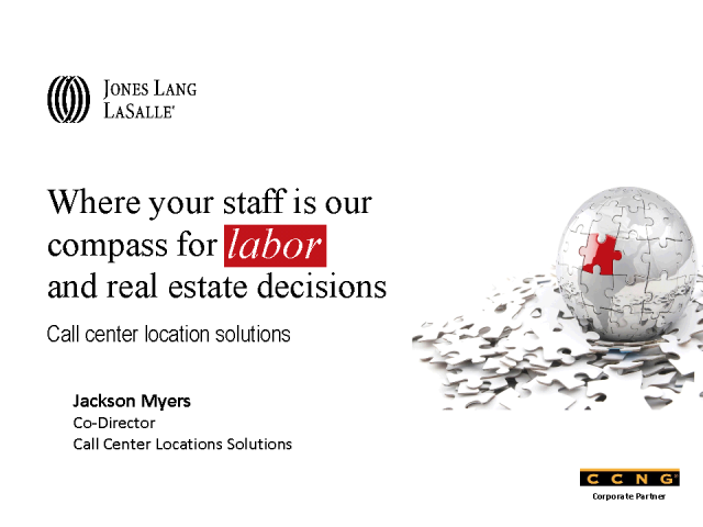 Introducing CCNG partner - Jones Lang LaSalle