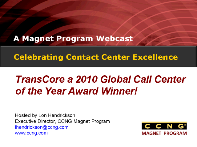 Celebrating Contact Center Excellence at TransCore