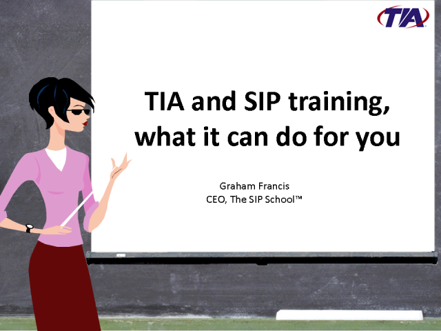 TIA Session Initiated Protocol (SIP) School