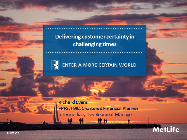 Delivering Customer Certainty in Challenging Times