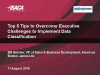 ISACA Webinar: Top 5 Tips to Implement Data Classification