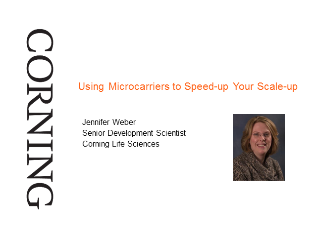 Using Microcarriers to Speed-up Your Scale-up.