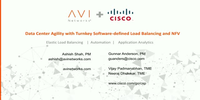 Data Center Agility with Software-defined Load Balancing and NFV