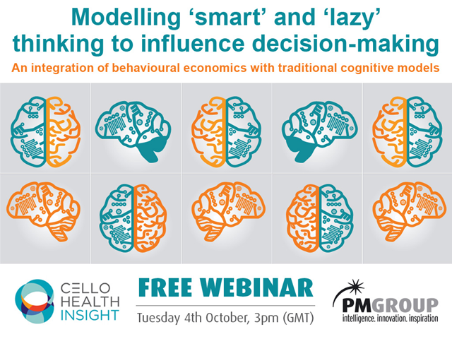 Modelling 'smart' and 'lazy' thinking to influence decision-making