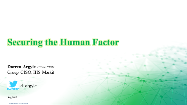 Securing the human factor