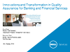 Innovations & Transformation in Quality Assurance in Banking & Financial Svcs