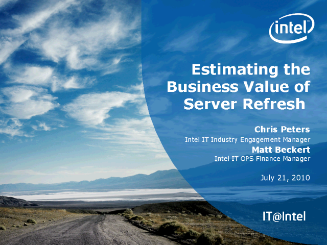 Estimating the Business Value of Proactive Server Refresh