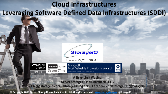 Cloud Infrastructures – Leveraging Software Defined Data Infrastructures (SDDI)