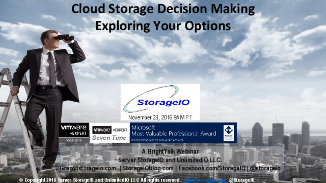 Cloud Storage Decision Making – Exploring your options