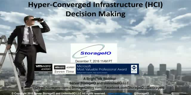 Hyper-Converged Infrastructure (HCI) Decision Making