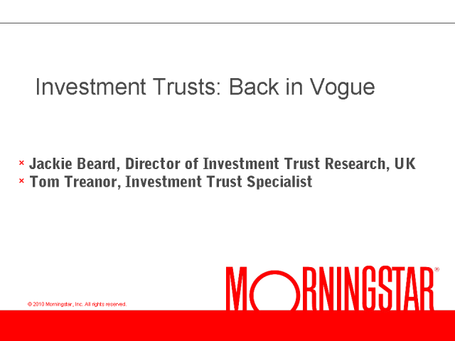 Investment Trusts: Back in Vogue