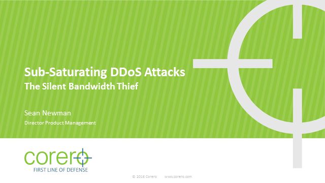 Modern Sub-Saturating DDoS Attacks - the Silent Bandwidth Thief