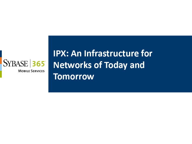 IPX: An Infrastructure for Networks of Today and Tomorrow