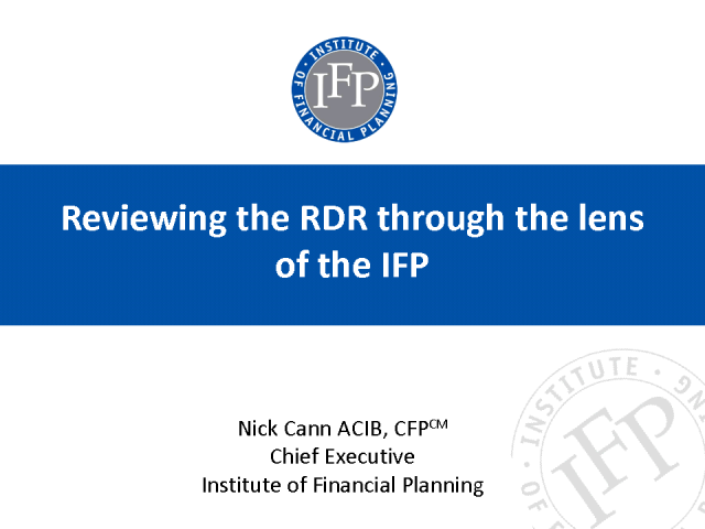 Reviewing the RDR through the lens of the IFP