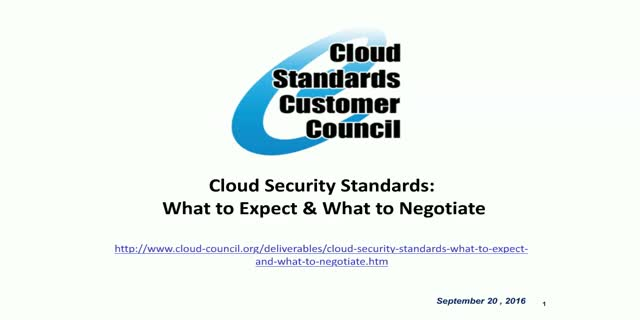 Cloud Security Standards: What to Expect and What to Negotiate V2.0