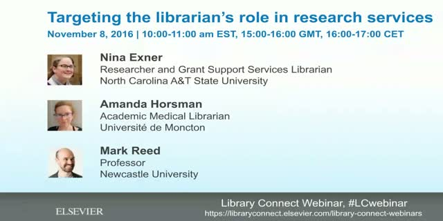 Targeting the librarian's role in research services