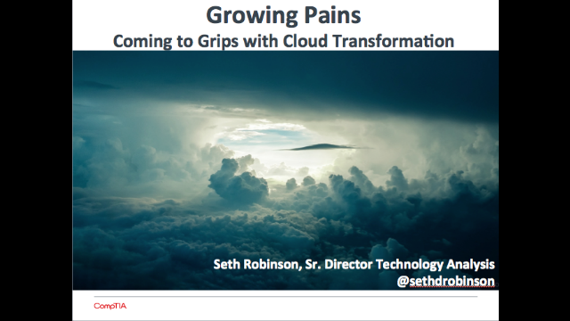 Growing Pains: Coming to Grips with Cloud Transformation
