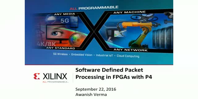 Software Defined Packet Processing in FPGAs with P4