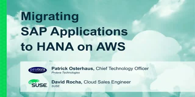 Migrating SAP Applications to HANA on AWS
