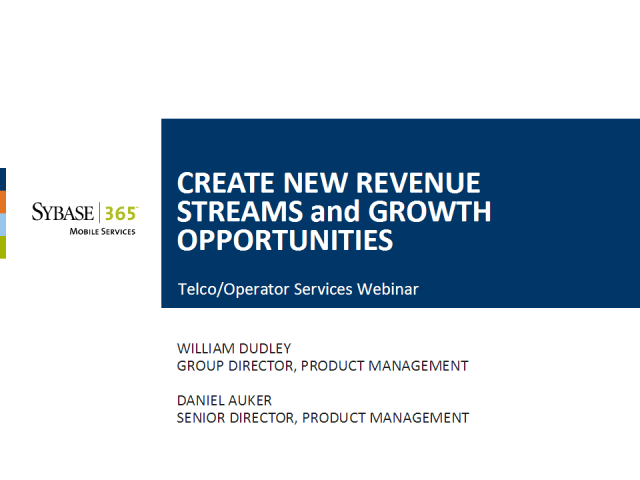 Operator Services: Create New Revenue Streams & Opportunities