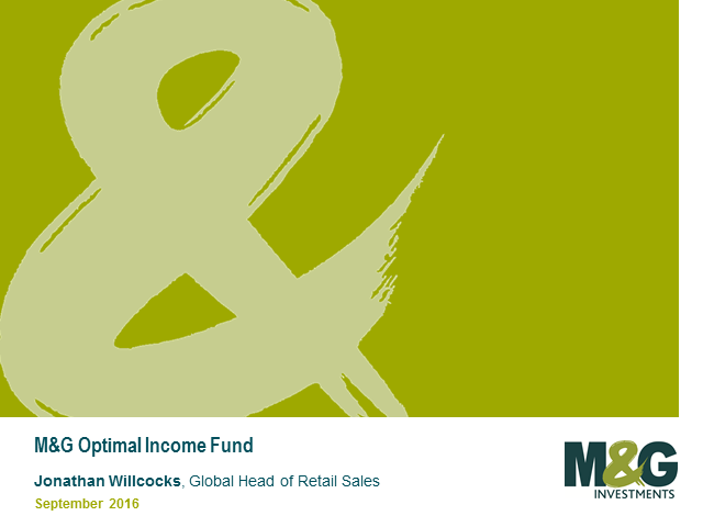 M&G Optimal Income Fund Webcast with Richard Woolnough